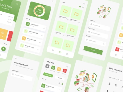 Secure It - Data Security Mobile App protect layout demo login wireframe template
