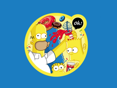 Simpson Sticker