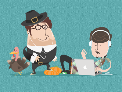Hipsters thanksgiving dribbble