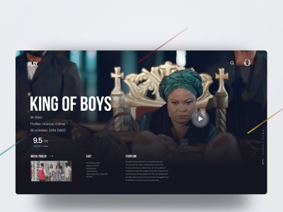 King of boys UI movie art nollywood abuja nigeria lagos king of boys movie app ui ux illustration