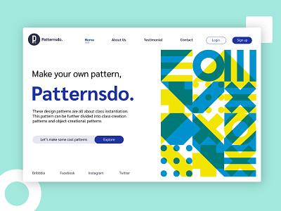 Patternsdo New Concept pattern design clean ui design concept website design pattern vector page typogaphy minimal website concept web design ui design ui ui  ux logo shapes design clean ui website patterns