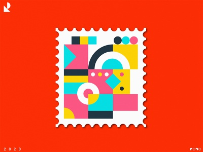 Retro Stamp Two color shape elements pattern design modern design patterns pattern art pattern a day vectors vector art vector illustration stamp design stamps stamp retro design shapes art direction artist pattern vector illustration