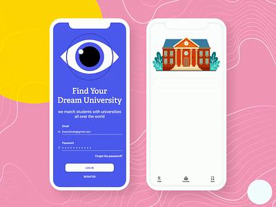 Uniify App Design study app app design mobile design interaction design animated gif eye mobile app uidesign mobile app design university mobile ui app typography ux ui gif animation vector color illustration