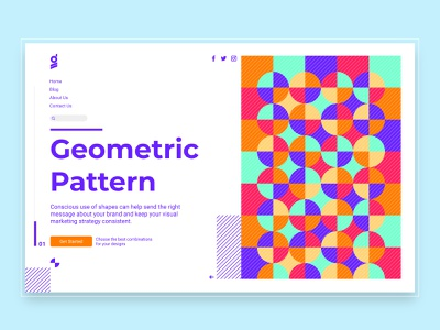 Geometric Pattern website pattern design dark mode dark blue dark ui interface shape illustraion typogaphy logo ui design ui ux typography pattern design graphic design geometric art shapes geometic