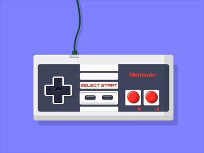 Nintendo Controller video game arcade gaming mario color buttons vintage gamepad gamers games nes nintendo animated controllers illustraion graphic design motiongraphics animated gif animation controller