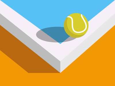 Tennis Ball vector illustration vector art art tennis ball isometric sun shadow vector balls tennis minimal two color illustraion sports ball
