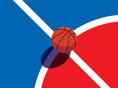 Basketball illustration art flat  design graphic design isometry two color dribbble balls ball color minimalist illustrations sports basketball flat illustration design flat design illustration minimal
