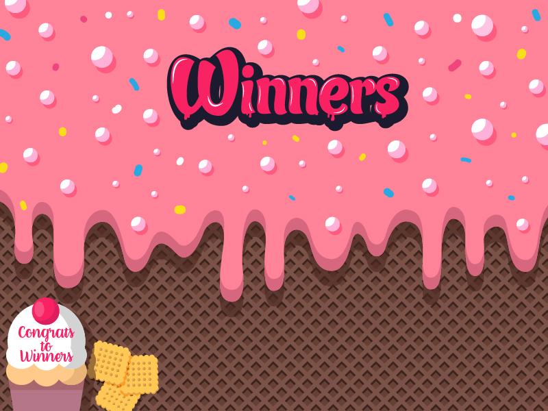 Winners ice cream invite winner dribbble winner player material vector illustration invite dribbble cream ice draft