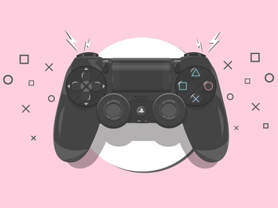 PlayStation 4 Controller design sony color gamer dualshock adobe illustrator shapes game playstaion video game console gaming ps4 gamepad vector controller playstation4 illustration