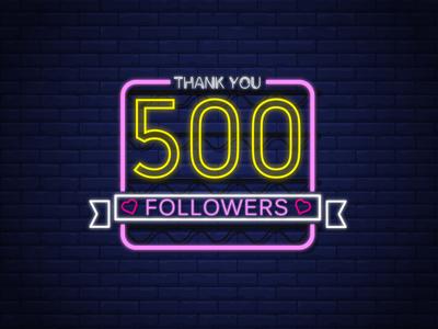 500 Followers   Thank you