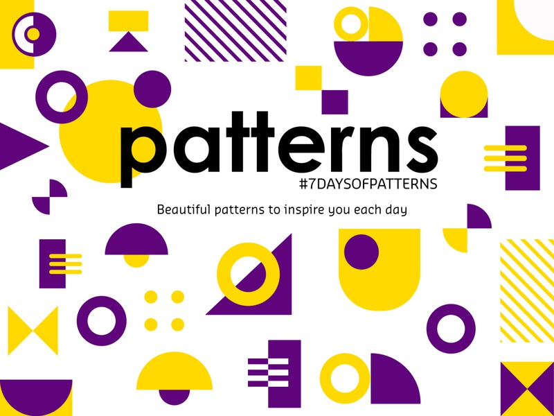 7 Days of Pattern Project | Behance ui background circles texture minimal print geometry illustration vector 7daysofpattern shape modern abstract web illustrator behance design graphic design artwork patterns