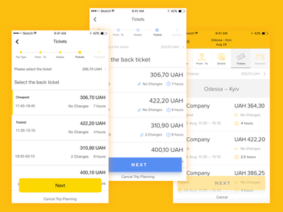 Tickets design itinerary tickets sketch stepper ios app travel ui ux