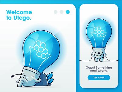 Official Utego mascotte app icon branding ux ui logo cute adobe illustrator illustration illustrator design vectors mascotte