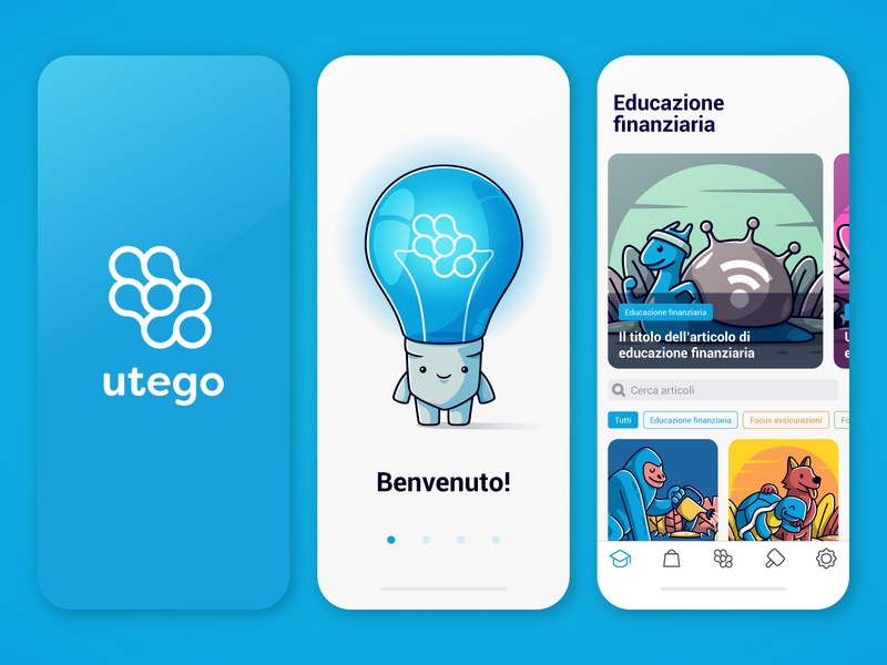 Utego UI study brand app design app design mascotte vectors icon illustration adobe illustrator ux design ux ui design ui