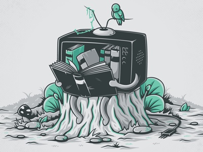 Rifacciamoci gebe elia colombo vectors illustration funny humor nature animals tv books cute