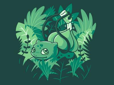 The gardener conceptual funny cute nature green design illustration art vector pokemon pokemon20