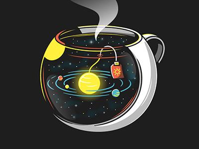 Infinity brew surrealism stars universe space humor vectors illustration colombo elia gebe