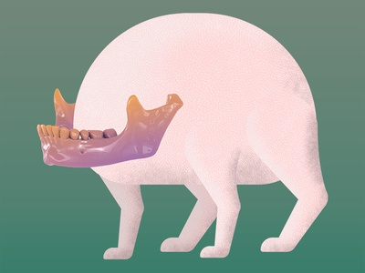 four legged mochi illustration design alien weird 3d 2d collage mascot mochi creature character design