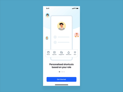 Sprinklr Mobile Onboarding flat interface vector user experience interaction animation ux ui design app
