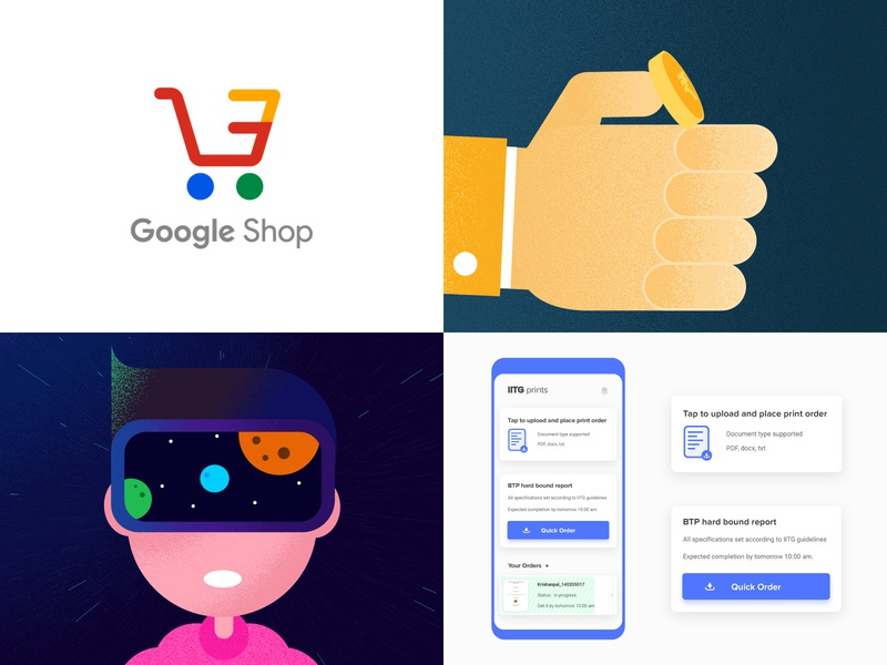 My 2018's  #Top4Shots adobe user interface card logo interface flat chatbot google daily ui augmented reality illustration interaction ui user experience vector branding app design ux animation