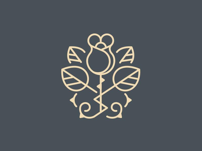 Rose Logo Brand By Jumjum Dribbble Dribbble