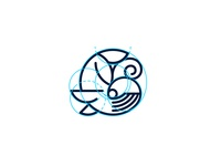 Whale Circle Icon