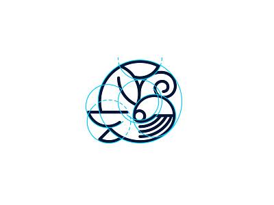 Whale Circle Icon blow icon geometric circle mammal whale