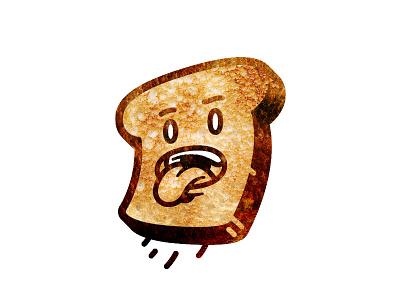 Toast late hot grilled bread jump toast roasted