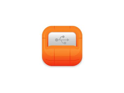 Fat Lacie fat protection bumper backup usb icon drive