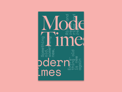 """Modern Times"" poster"