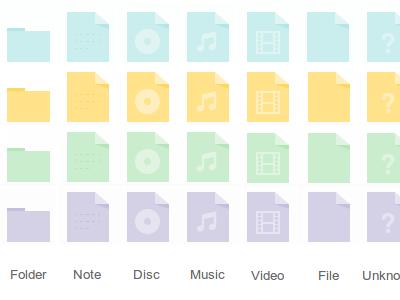 Desktop Icons desktop icon file files folder folders icons theme theming os operating system ubuntu linux debian media document documents view multimedia music video film blank unknown