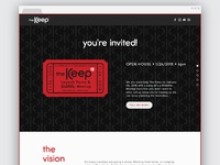 The Keep Landing Page