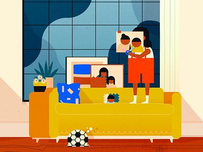 Gentilles Bêtises 🙃 kid dungaree character living room homedecor plant shapes