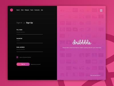 Hello Dribbble! Sign-up form debut user interface thank you dribbble invite design ui debut