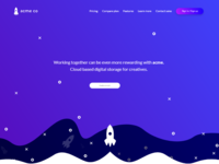 acme digital storage for creatives | Landing page