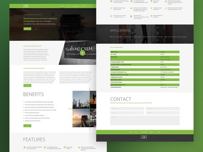 Amce Oil web concept - User Interface Design dribbble web design ui user interface design