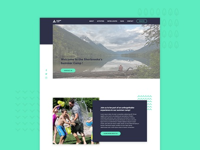 Summer Camp tangible web design website web summer summer camp template ux ui design