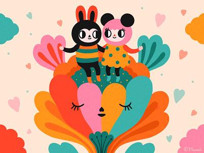 Happy Valentine's Day! love procreate digital art characterdesign colorful digitalart illustration valentinesday
