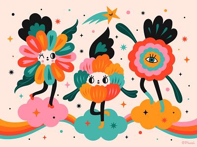 IWD womens day iwd popsurrealism flower digital vector characterdesign digitalart illustration colorful