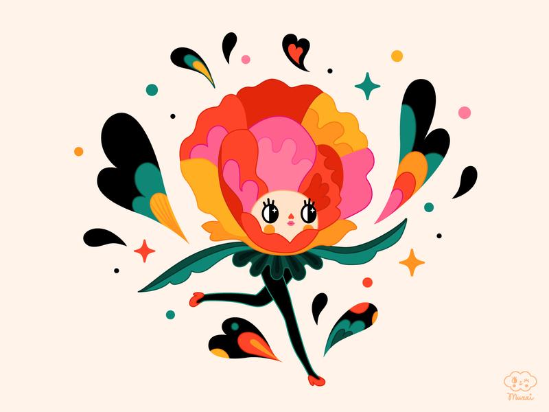 Poppy vectorart nature colorful poppy flower nature illustration digital art vector characterdesign digitalart illustration