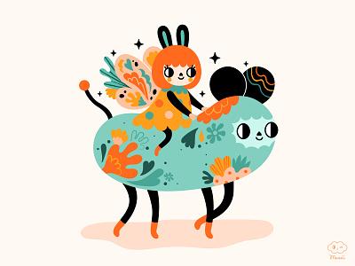 Little Butterfly butterfly adobe illustrator vector colorful characterdesign digitalart illustration