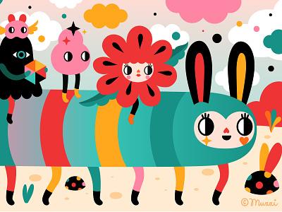 Hello Monday! characterdesign digital art popsurrealism vector digitalart colorful illustration