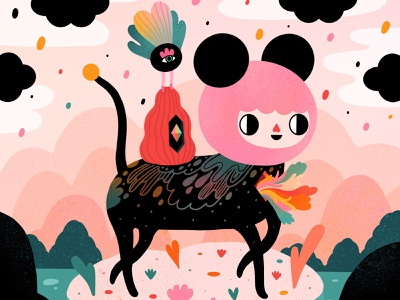 Little Island procreate characterdesign popsurrealism colorful digitalart illustration