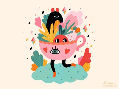 Magic Cup procreate popsurrealism illustration digitalart colorful