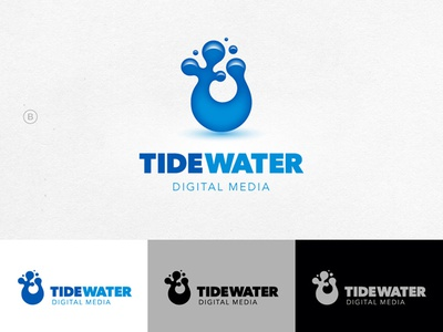 TideWater — logo concepts water logo splash fluid