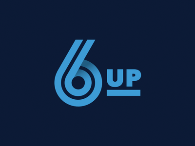 Logo for six sigma consultancy logo 6 six up typography