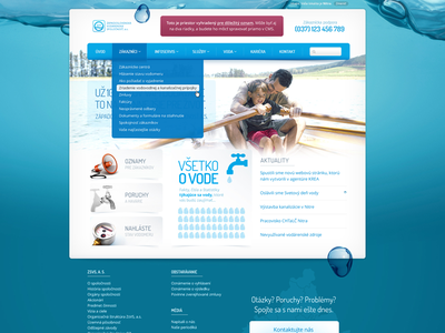 ZSVS homepage homepage water navigation dropdown background