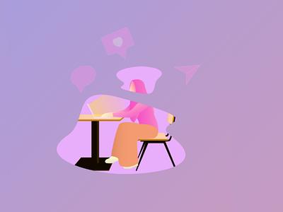 Content Creator vector woman flatillustration dribbblers