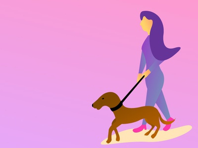 Womananddog