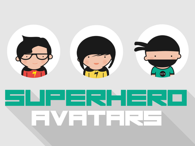 Superhero Avatars avatar vector superhero flat design superhero avatar vector avatar illustration